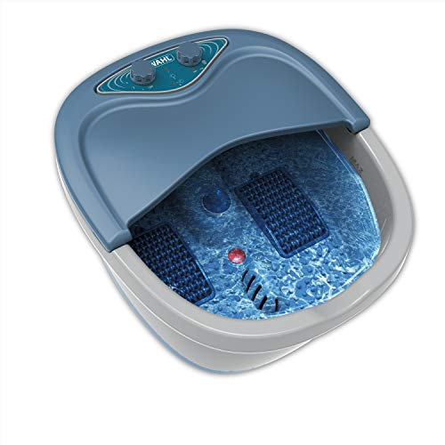 Wahl Therapeutic Extra Deep Foot & Ankle Heated Bath Spa with Heat, Vibration Massage, Bubble Jet Action, Soothes, & Relaxes Overworked Aching Feet – Model 4205