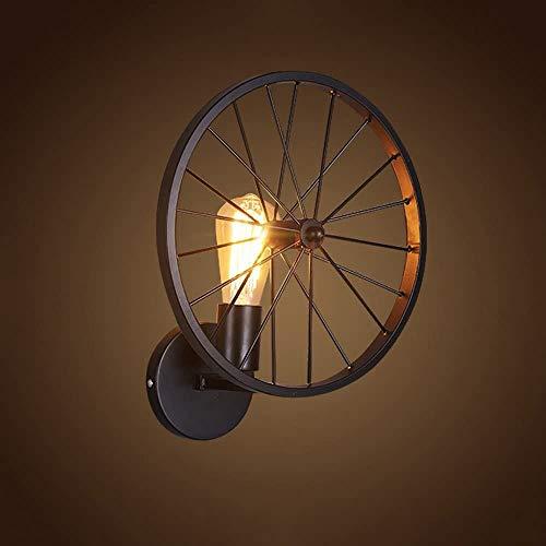 Luci armadio, Bermnn Industrial Vintage singola Metal Head lampada da parete a rotelle, creativo...