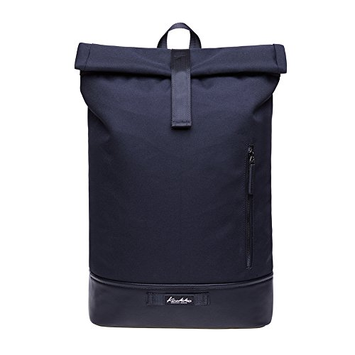 KAUKKO Rucksack Roll Top Backpack Lässiger Vintage Tagesrucksack Herren Laptop Schulrucks...