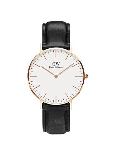 Daniel Wellington Unisex Analog Japanese Quartz Uhr mit Leder Armband DW00100139