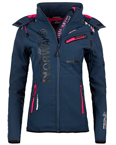 Geographical Norway Bans Production Veste softshell pour femme - Bleu -...