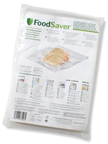 FoodSaver 48 Sacchetti Termosigillabili per Sigillatrice per Sottovuoto, senza BPA, 20 x 29 cm