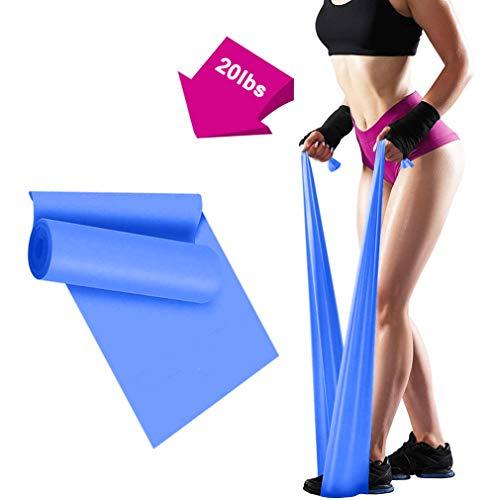 ERUW Bande Elastiche Fitness, 2 m Fasce Elastiche Resistenza Bande per Fisioterapia, Pilates, Yoga, Niabilitazione, Stretching, Fitness, Allenamento della Forza (Blue)