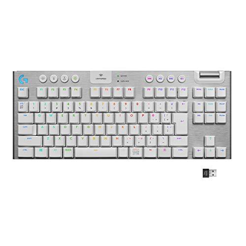 Logicool G ゲーミングキーボード テンキーレス G913 TKL ホワイト LIGHTSPEED ワイヤレス タクタイル 静音...