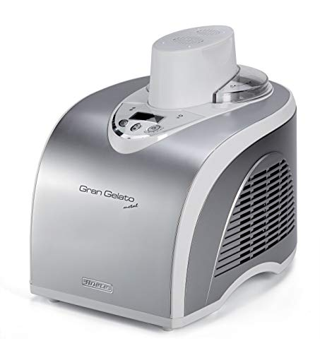 Ariete Gran Gelato 693 Eismaschine mit Kompressor, 135 Watt, LCD Display, 18/8 Stainless Steel, 1 Liter