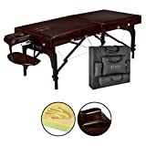 Master Massage 31' Supreme Lx Portable Massage Table Package-brown Luster, Memory Foam