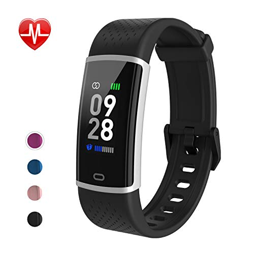 Fitness Watch Activity Tracker with Heart Rate Monitor - Slim Waterproof Smart Watch with Sleep Monitor, Step&Calorie Counter, Pedometer, Call/SNS Remind for Women Men Kids