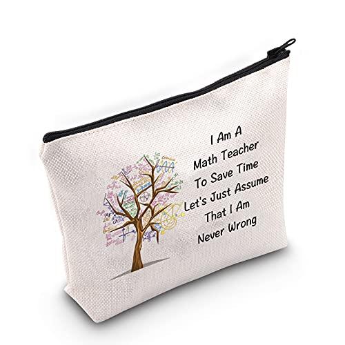 JINUP Funny Math Teacher Gift Mathematical Makeup Bag I Am A...