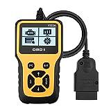 Novosun V311A OBD2 Diagnosegerät, Plug-and-Play Scanner Auto Diagnose-Tool Unterstützung 7 Sprachen für alle Fahrzeuge mit 16-Pin Schnittstelle
