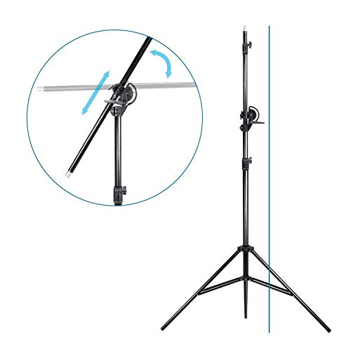 LimoStudio 10ft Two Way Tripod Boom Light Stand for Photo...