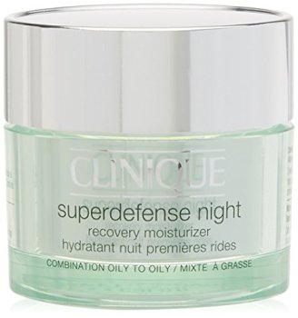 Clinique Superdefense Night Recovery Moisturizer for Combination to Oily Skin, 1.7 Ounce