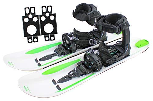 Crossblades - Racchette da neve con attacco softboot, per scarpe da trekking con ramponi, racchette da neve per sci e per passeggiate