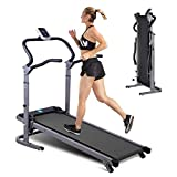 Mechanical Treadmill Folding Manual Working Machine for Home, Adjustable Height Non-Electric Treadmill, No Power, Mechanical Walking Machine
