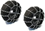 The ROP Shop | Pair of 2 Link Tire Chains & Tensioners15x5x6for Snow Blowers, Lawn & Garden Tractors, Mowers & Riders, UTV, ATV, 4-Wheelers, Utility Vehicles