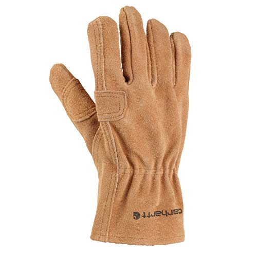 Carhartt Men's Leather Fencer Work Glove, Brown, Small