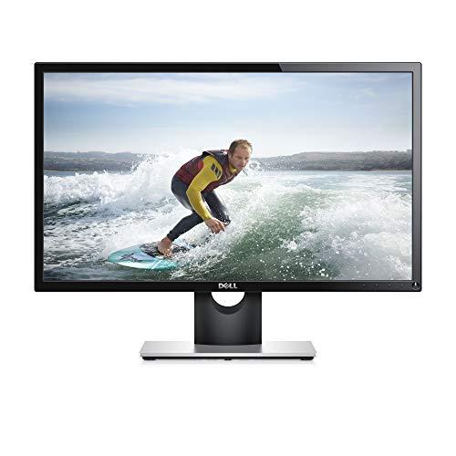 DELL, Monitor Pc SE2416H da 24 Pollici, Schermo LCD Full HD, Risoluzione 1920x1080 Pixel, Retroilluminazione a LED, Entrate AV/AVG/HMI, Inclinazione regolabile, Colore Nero