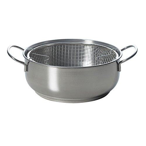 Excelsa Frigg Pentola per Friggere, aluminio, Madera, vidrio, Argento