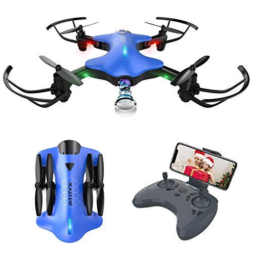 Drone Pieghevole con Telecamera Posizionamento Preciso del Flusso Ottico 720p WiFi FPV Portatile...