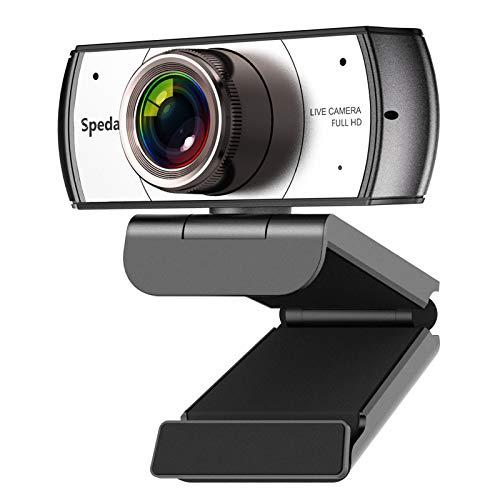 Spedal Webcam Grandangolare Full HD 1080P per Conferenza d'Affari PRO Webcam con Microfono OBS Streaming Xbox Youtube o Twitch USB Computer Camera per PC/Mac/Desktop
