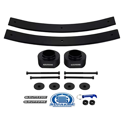 Supreme Suspensions - Full Lift Kit for 1984-2001 Cherokee XJ 3' Front Lift Spring Spacers + 2' Rear Lift Add-A-Leafs 4WD