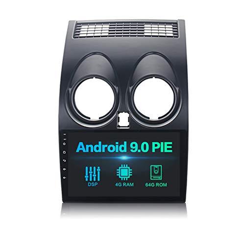 Dasaita 9' Android 10.0 Stereo Auto Bluetooth con DSP 4G RAM 64G ROM per Nissan Qashqai J10 2008 2009 2010 2011 2012 2013 2014 Autoradio Touch Screen 1 din Supporto GPS WiFi TPMS USB Mirror-link