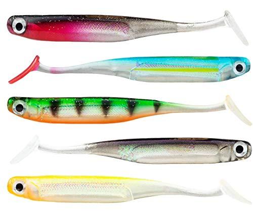 FISHN LURIEone - 5 Pesci di Gomma 10 cm, 5 gr per la Pesca di lucioperca, persici, Lucci e trote