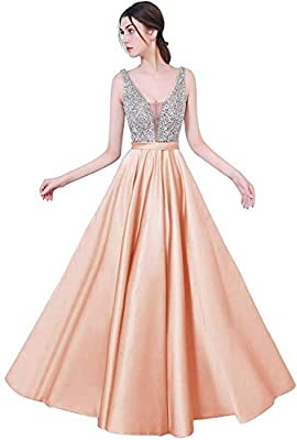 High quality materials,Beads, Rhinestones,Gorgeous design and Excellent workmanship, perfect sequined dress make you beautiful and charming Elegant and Sexy Prom Dress 2017 New Style Beaded Open Back Evening Dress Keyhole Back Formal Dress Cocktail D...