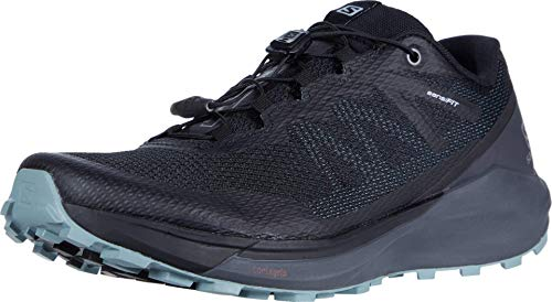 SALOMON Men's Sense Ride Competition Running Shoes, Black (Black/Ebony/Lead), 8.5 UK