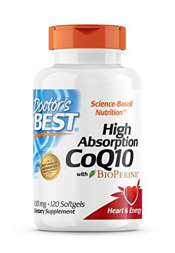 Doctor's Best High Absorption CoQ10 with BioPerine, Gluten...