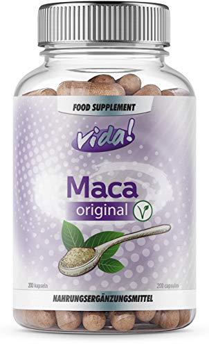 Maca Original – 10.000mg Maca-Wurzel Pro Portion – mit Zink, Selen Und Vitamin K – 200 Kapseln (66 Portionen)