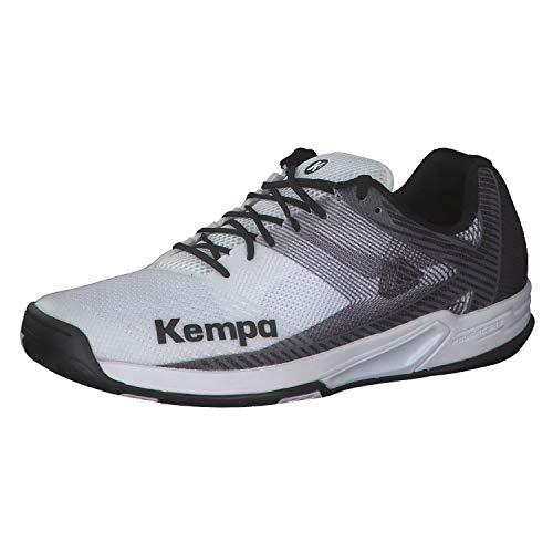 Kempa Herren Wing 2.0 Handballschuhe, Mehrfarbig (Weiß/Schwarz 03), 46 EU