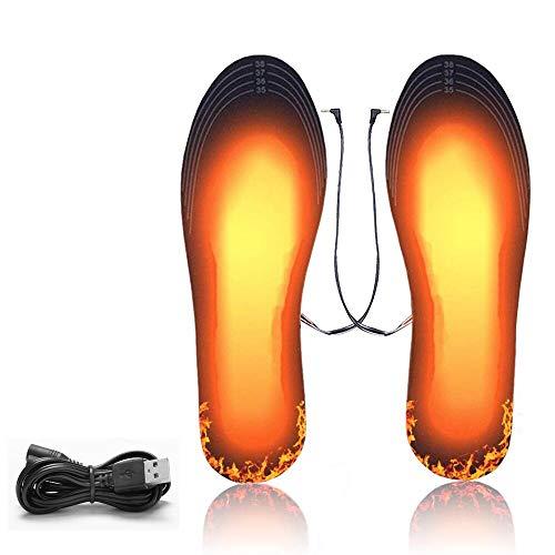 KIPIDA Solette Riscaldate, Invernali Solette Termiche riscaldate con USB Ricaricabile Scaldapiedi...