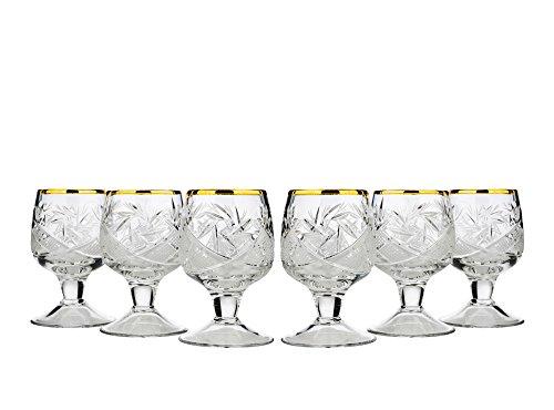 Neman wg5290g-x, 1.7oz Crystal Cut Sherry bicchieri con stelo corto, Classic hand-made Cordial bicchieri da liquore, regalo di nozze Vodka bicchieri da liquore, bicchieri, set di 6