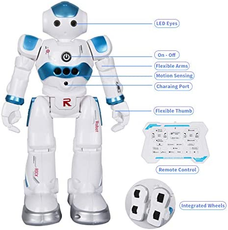 BBdis RC Robot Toy, Gesture Sensing Remote Control Robot for Kids Intelligent Programmable Robot with Infrared Controller Singing Dancing & Walking Robot for Girl Boy 3-12 Year Birthday Gift Present 16