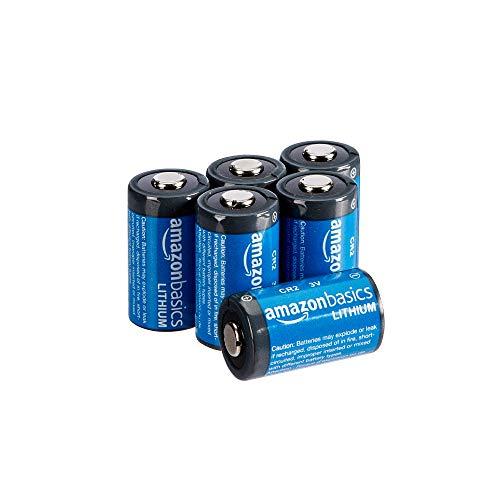 AmazonBasics Lithium CR2 3V Batteries - Pack of 6 (Appearance may vary)