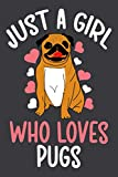 Just A Girl Who Loves Pugs: Blank Lined Notebook To Write In, Pug Journal For Notes Taking, Pug Gifts For Girls & Women.