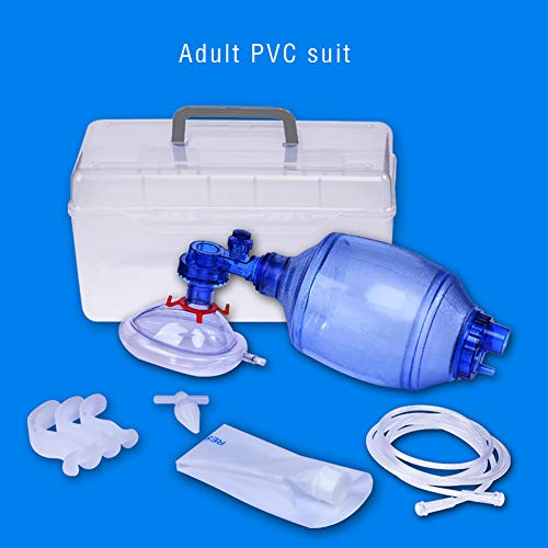 Simple Breathing Apparatus, Manual Oxygen Device with Transparent PVC Mask, Adult Simple PVC Mask with Oxygen Tube Wake Ball Respirator Airbag, Reservoir Bag Baby Child Three Specifications(Adult)