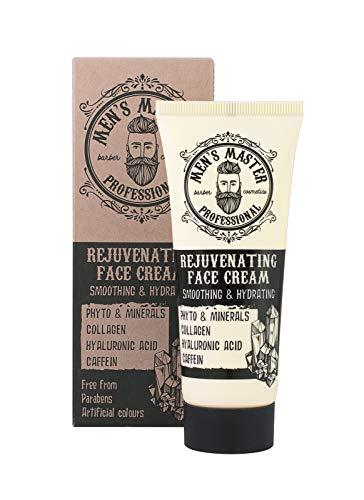 Crema facial rejuvenecedora hidratante antiarrugas para hombre, Sin parabenos, sin colorantes artificiales. Volumen 75 ml de Men's Master.