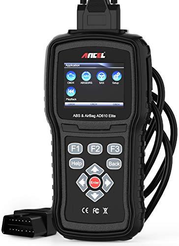 ANCEL AD610 Elite Scanner en français OBDII ABS SAS SRS(Airbag) Outil Diagnostic Auto Scan du Moteur Lecteur de Code Automobile