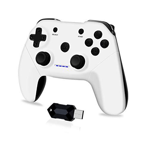 Clevo Mando para PC, Mando PC Gaming 2.4G Bluetooth Mando Inalámbrico...