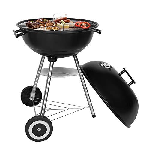 SunJas BBQ Barbecue Grill Griglia Carbone BBQ in Ferro Giardino Barbecue Grill con 2 Vassoio (464470...