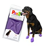 PawZ Color Dog Boots (Large) | Dog Paw Protection with Dog Rubber Booties | Dog Booties for Winter, Rain and Pavement Heat | Waterproof Dog Shoes for Clean Paws