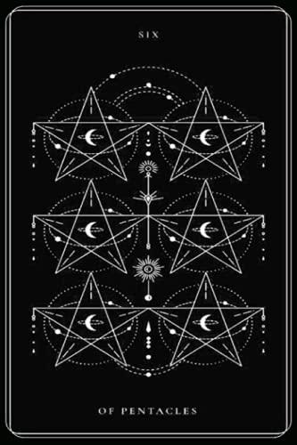 Six of Pentacles: Black and White Tarot Card, Tarot Card...