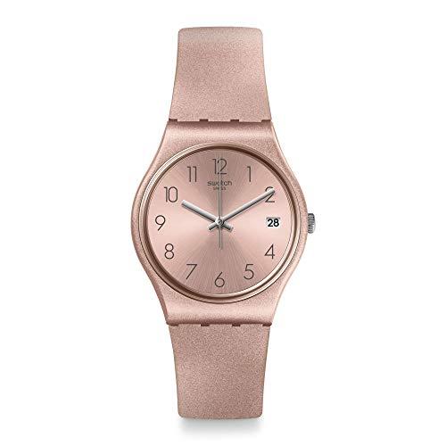Swatch Damen Analog Quarz Uhr mit Silikon Armband GP403