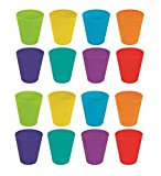 Invero 18 Pack of Children's Kids Durable Plastic Drinking Cups Tumblers 250ml - Bright Multi Coloured Ideal for Kitchen, Outdoor Parties, Picnics, BBQ's, Travels and more