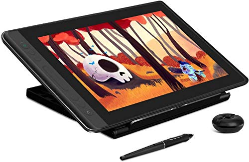 HUION KAMVAS Pro 13 Drawing Tablet with Full Laminated Screen Digital Graphics Pen Display with Battery-Free Stylus Tilt Touch Bar Adjustable Stand-13.3inch (Black)