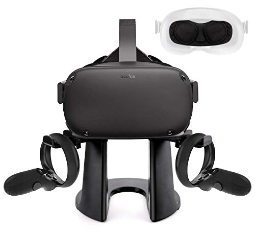 VR Stand, VR Headset Stand, Virtual Reality Headset and Controllers Holder, VR Headset Display...