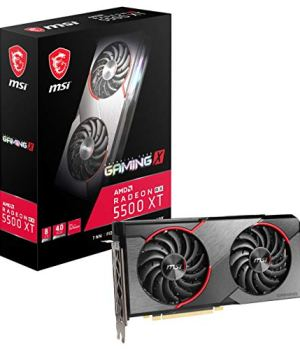 MSI Gaming Radeon RX 5500 XT Boost Clock: 1845 MHz 128-bit 8GB GDDR6 DP/HDMI Dual Torx 3.0 Fans Crossfire Freesync VR Ready Graphics Card (RX 5500 XT Gaming X 8G)