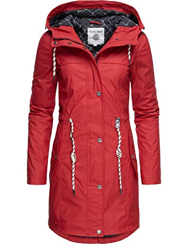 Peak Time Damen Regenjacke Regenmantel L60042 Rot019 Gr. M