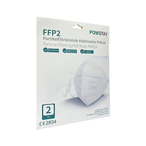 EasyCHEE Powstay PM01A Maschera di protezione antiparticolato FFP2 NR, 2 pezzi
